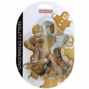APOLO Gingerbread Man Cutters P05235 Set of 2 Cutter