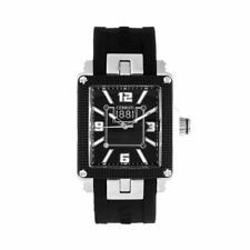 Cerruti 1881 Odissea Stainless Steel Black Tone Mens Wrist Watch Rubber Strap