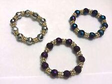 New Crystal Bling Charm Bracelet Wedding Birthday Valentines Gift