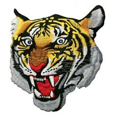 Big Tiger Patch Embroidered Patch Roaring Tiger Face Badge Sew On Patch-9.5x7.5