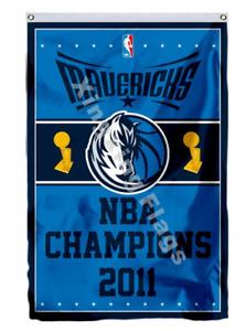 Dallas Mavericks World Champions Flag 3X5 FT NBA Banner Polyester FAST SHIPPING!