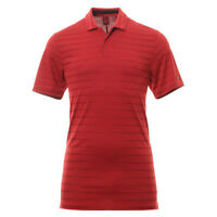 NIKE GOLF TIGER WOODS STRIPE POLO SHIRT - X-LARGE - RED (BV0350-687)