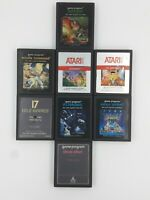 Atari 2600 Lot B 8 Game Cartridges Authentic Original Cleaned Untested