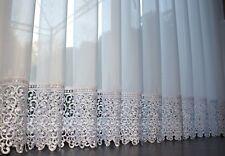 Hochwertige Exklusive Gardine VOILE Store mit Plauener Spitze , nach Maß