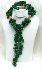 Green African Green Coral Chips Wedding Bridal Party Jewellery Set