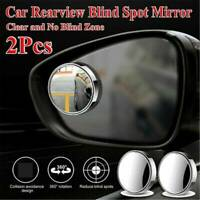2X Car Rearview Blind Spot Wide Angle Adjustable Rimless Mirror Rear View Convex