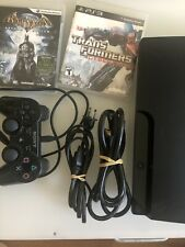 Sony Playstation 3 PS3 Slim CECH-3001A 160GB Console 1 Controller 2 Games Bundle
