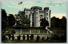 BATON ROUGE LA Louisiana Old State Capitol Horse Wagon Vintage Postcard Cp