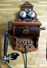 Pp Rare Antique L.M. Ericsson Wall Telephone Pat.1896 Valnut