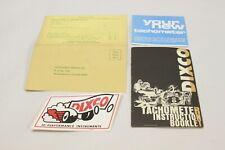 New ListingNos 1960's Dixco Tachometer User Instruction Manual Sticker Warranty Card Race