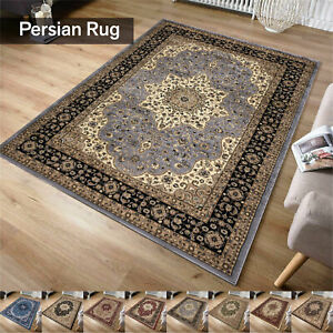 Traditional Large Vintage Style Bedroom Carpet Non-Slip Living Room Classic Rugs