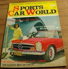 1965.Sports Car World.Mercedes 230 SL. BMW 1800 TISA.Renault R16.BENTLEY History