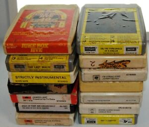 JOB LOT 14X 8-track 8 track cassette tapes cassettes cartridge VARIOUS GENRE b14
