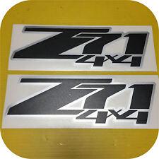 2 Black Silver Z71 4x4 Silverado GMC Sierra Pickup Bed Side Decal Sticker 2007up