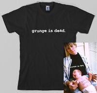 Grunge is dead Women Men T-Shirt Kurt Cobain of Nirvana 90's Retro Tees Tops New