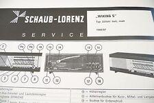 Service Manual-Anleitung für Schaub-Lorenz Wiking S, 231641, Goldy Luxus,240851