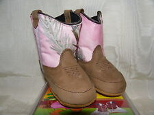 NEW baby Girl SHEPLERS POPPETS pink camo & tan leather Old West Cowboy BOOTS 04