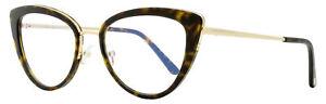 Tom Ford Blue Block Eyeglasses TF5580B 052 Dark Havana/Gold 55mm FT5580