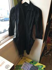 Warehouse Size 10 Black 3/4 Sleeve Shirt Dress (M2)