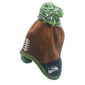 Seattle Seahawks Official NFL Baby Infant Kids Boys Pom Knit Winter Hat Cap New