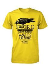 BNWT THE NIGHTS WATCH GAME OF THRONES CROW SWORD WAR ADULT T SHIRT S-XXL