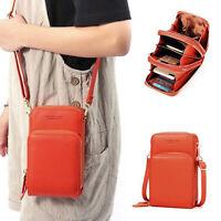 Crossbody Cell Phone Shoulder Bag Multi Functional Card Holder Women Small Bag