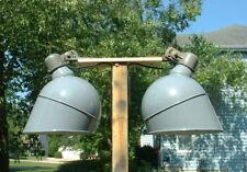 """1-18"""" Westinghouse Gray Porcelain Gas Station Parking Lot Light Industrial Vtg"""