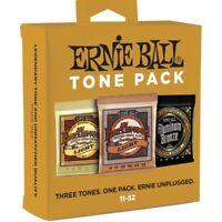 Ernie Ball 3314 - Tone Pack Acoustic Guitar String - 3 Mute acustica 11-52