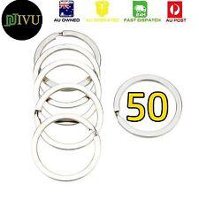 50 x 30 mm Multifunction Nickel Steel Plated Split Rings Key rings Connector