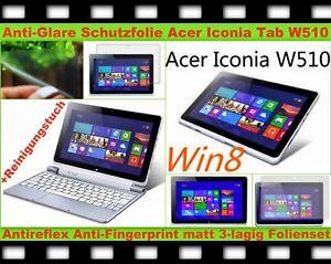 """2x Antireflex Matt Entspiegelt Display Schutz Folie f Acer Iconia W510 Tab 10,1"""""""