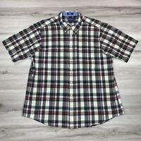 Pendleton Seaside Shirt Men's Button Down Shirt Short Sleeve Size XXL 2XL Cotton