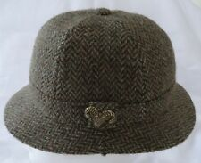 Vintage mens FAILSWORTH England gray Wool Tweed Hat Ram Head Pin