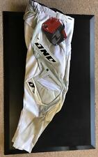 """28"""" Adult Youth One Industries Carbon Pants MX Motorbike BMX White Silver $249"""