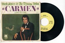 """45 Giri HERB ALPERT & THE TIJUANA BRASS Carmen - Love so fine 7"""""""