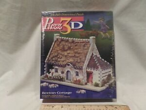 """PUZZ 3D """"BRETON COTTAGE"""" JIGSAW PUZZLE - VINTAGE 1995 - 264 PIECES"""
