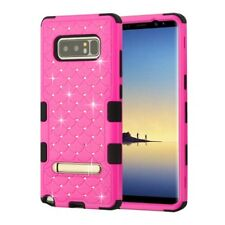 Samsung Galaxy Note 8 HYBRID IMPACT TUFF Diamond KICK STAND Case + Screen Guard