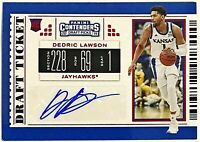 2019-20 Contenders Draft Dedric Lawson Auto RC Red Foil Kansas Jayhawks Spurs