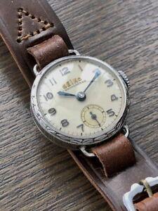 Seikosha Seiko Antique Watch Rare Emblem 1940-1950