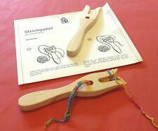 Doppel Strickgabel Nußbaum Amerika Nr.3 Double Lucet  Finger Knitting Stricken