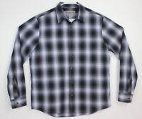 Michael Kors Men's Casual Shirt Size L Plaid Button Up Long Sleeve 100% Cotton
