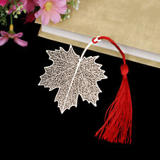 Creative golden hollow maple leaf metal bookmark stationery bookmark book RAS