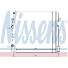 Kühler Motorkühlung - Nissens 63762