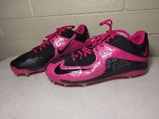 RARE Nike MLB Exclusive Pink Mothers Day Metal Baseball Cleats PE #46 Mens Sz 14