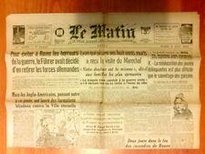"""JOURNAL DE PROPAGANDE DE LA COLLABORATION / """"LE MATIN"""" N° 21807 / 2 JUIN 1944"""