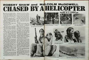 Figures In A Landscape Robert Shaw, Malcolm McDowell Vintage Film Article 1970