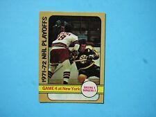 1972/73 O-PEE-CHEE NHL HOCKEY CARD #38 WALT TKACZUK IA PLAYOFFS EX/NM OPC