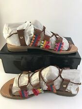 G by Guess Humble Multicolor Lace-up Sandals Brown Size 7.5M