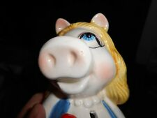 Vintage MISS PIGGY BANK - hand painted ceramic SIGMA made in Japan Nose Variance
