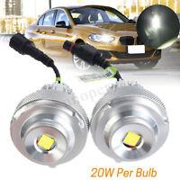 2pc Front LED Angel Eyes Halo Ring Light Bulb No Error For BMW E60 528i 535i LCI