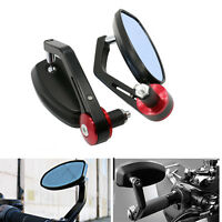 Hollow 7/8 handlebars Universal Motorbike Handle Bar End Rear Side View Mirrors